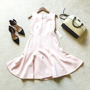 BNWT Calvin Klein Scuba V-Neck Fit & Flare Dress